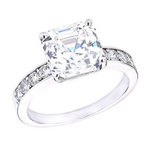 SILVER SOLITAIRE ENGAGEMENT RING CUSHION CUT CUBIC ZIRCONIA CZ NEW