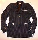 MICHAEL MICHAEL KORS Dark Gray Striped Blazer Jacket Pants Slacks