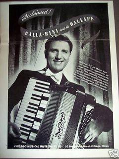 1948 Galla Rini photo Dallape Accordian print ad