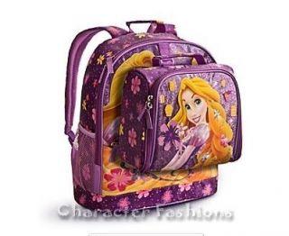 Disney Princess RAPUNZEL BACKPACK & LUNCH BOX TOTE TANGLED School Bag