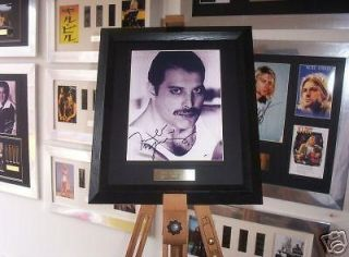 Queen FREDDIE MERCURY Framed Music Memorabilia Signed Autograph