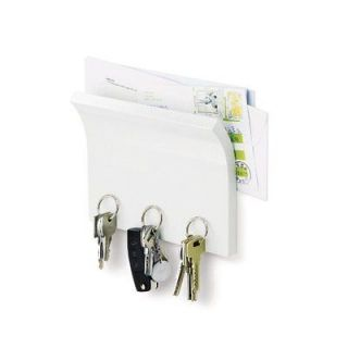 Mail Letter Key Cubby Holder Organizer Wall Mount Gloss WHITE