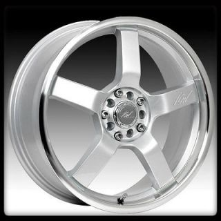 RACING 212MS KYOTO 4X100 4X4.5 CIVIC INTEGRA ACCORD SILVER WHEEL RIMS