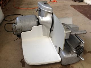Antique American Slicing Machine Company Meat Slicer with Porcelain