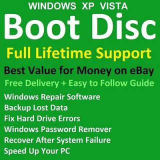 WINDOWS PROFESSIONAL BOOT CD PC REPAIR RECOVERY DISC HP ACER DELL IBM