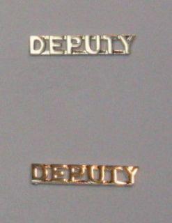Police Officer Deputy Sheriff Collar Brass Uniform Shirt Jacket Pins