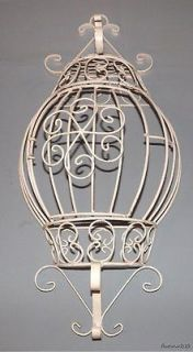 Decorative Wall Hanging Wrought Iron Metal Flower Holder Rack Display