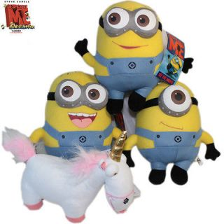 Despicable Me Movie 9 Stuffed Animal 3D Minions Unicorn 4x Plush Toy