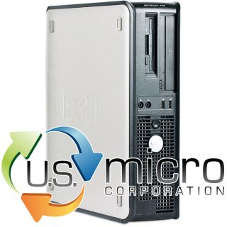 Dell Optiplex GX755 Core 2 Duo 2.5GHz 4GB 80GB DVD Win 7 Pro Desktop