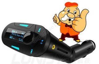 Wireless FM Transmitter Modulator USB LCD + Remote Car Kit
