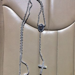 Diamond Rosary Chain White Gold 10ct Diamonds