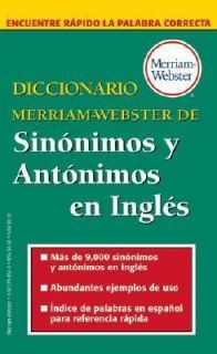 Diccionario Merriam Webste​r De Sinonimos Y Antonimos En Ingles