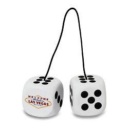 WHITE DICE AND WELCOME TO LAS VEGAS REAR VIEW MIRROR HANGER OR 2
