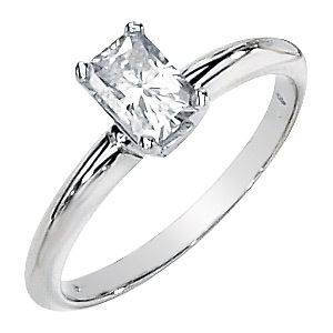 Newly listed Moissanite Engagement Ring Solitaire Radiant Cut .5 Ct
