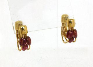 MARCO BICEGO 18K GOLD & RUBIES LADIES MULTI ROWS HUGGIE EARRINGS