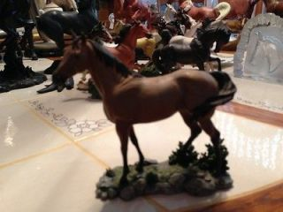 DANBURY MINT COLLECTIBLE HORSE STATUE CALLED NOBLE STEEDS
