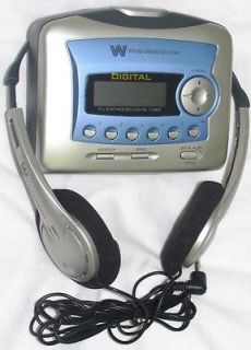 Portable Stereo Cassette Player with Digital AM/FM Radio+ Memory