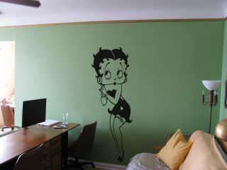 Betty Boop Life Size Wall Vinyl Art 4 Sizes 17 colours up to 1700mm