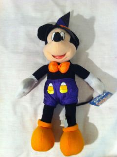 NWT Walt Disney Mickey Mouse Halloween Candy Corn Plush Toy Stuffed