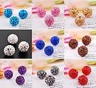 12mm CZ Crystal Shamballa Beads For Pave Disco Balls Charms Bracelet
