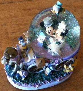 Vintage Disney Snowglobe Mickey Mouse Music Box Wedding March Horse