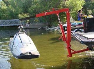 500 Lb Truck Hitch Mount Dock Hoist Crane Lift Jetski Jib PWC Boat