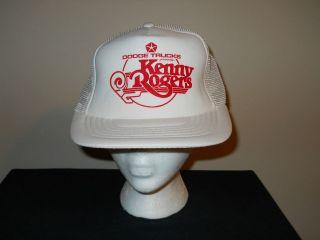 Vtg Kenny Rogers Dodge Trucks Concert Tour Snapback trucker hat/cap