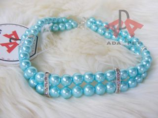 New Arrive 2 Rows Pearl dog Cat necklace,pet collar dog jewelry