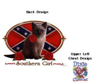DIXIE T SHIRT SOUTHERN GIRLS CAT T SHIRT 15156