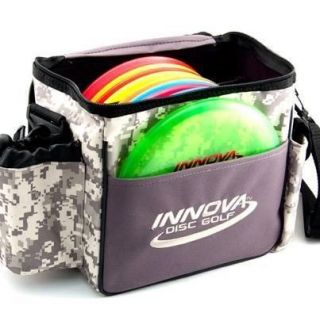 NEW LOGO CAMO / GREY STANDARD INNOVA DISC GOLF BAG HOLDS 8 14 DISCS