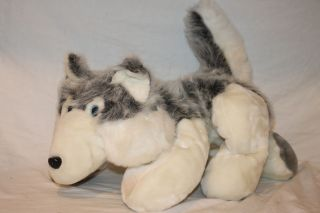 Toys Plush Wolf Alaskan Husky Dog Stuffed Animal 25 Large