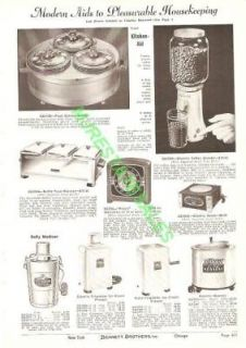 1940 Kitchen Aid Coffee Mill Dolly Madison Catalog Ad