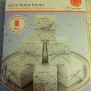 Martha Stewart 20 Dove Wedding Favor Boxes With Labels & Ribbons