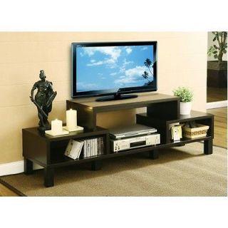 tv stand flat screen console entertainment center black media cabinet. Black Bedroom Furniture Sets. Home Design Ideas