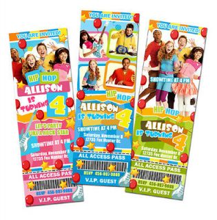 Newly listed THE FRESH BEAT BAND BIRTHDAY PARTY INVITATION TICKET CARD