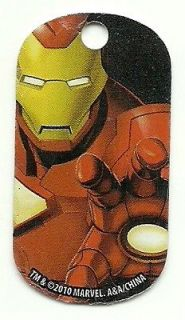 Iron Man, Marvel Comic Dog tag Necklace, Backpack, ZipperPull, Party