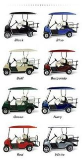 EZGO TXT Golf Cart Elite Canopy Extended Four Pass 80 Top w/ Struts