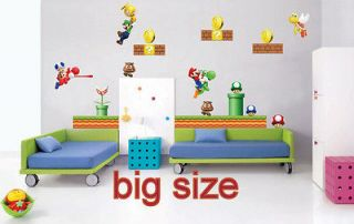 VINYL wall stickers super mario game kids room decal home design 8465