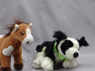 Bear Girl Scout Horse & Border Collie Dog Toys Plush Stuffed Animals