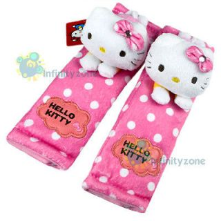 Sanrio Hello Kitty Plush Doll Safely Car Truck Seat Belt Cover One