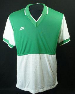 Vtg Mens M Mizuno Shirt Soccer Baseball Golf tennis Green NWT Intera