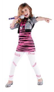 Hannah Montana Miley Cyrus Pop Star Zebra Dress Up Halloween Child