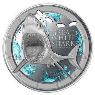 2012 Niue 1 Oz Silver Great White Shark $2 NGC PF70 UC ER Proof 70