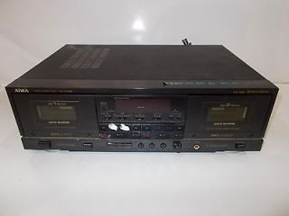 Aiwa AD WX999U Dual Cassee Deck ape Player Recorder Pars Repair