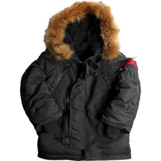 Alpha Industries Kids N 3B Snorkel Parka Youth Jacket Kid's   Black