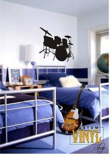 Drum Set   Vinyl Wall Decal Decor Sticker Art 22