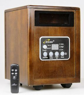 Infrared Space Quartz Heater 1500W by Dr Infrared Heater 2X more Heat