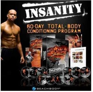 listed New & Sealed full Insanity Workout 13 DVDs Set Shaun T 60 day