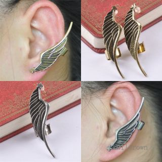 Personality Punk Gothic Angel Wing Ear Wrap Cuff Clip Stud Earring