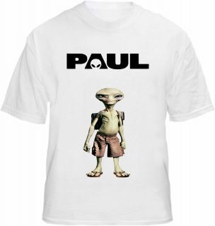 Paul the Alien T shirt Movie Film Poster Style Tee Frost Pegg AKA